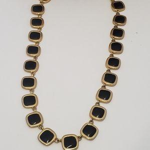 Vintage Jewelry - Vintage Reversible Black to Cream Necklace